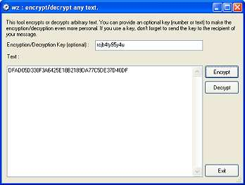 wz : encrypt/decrypt tool : Free speech at its best